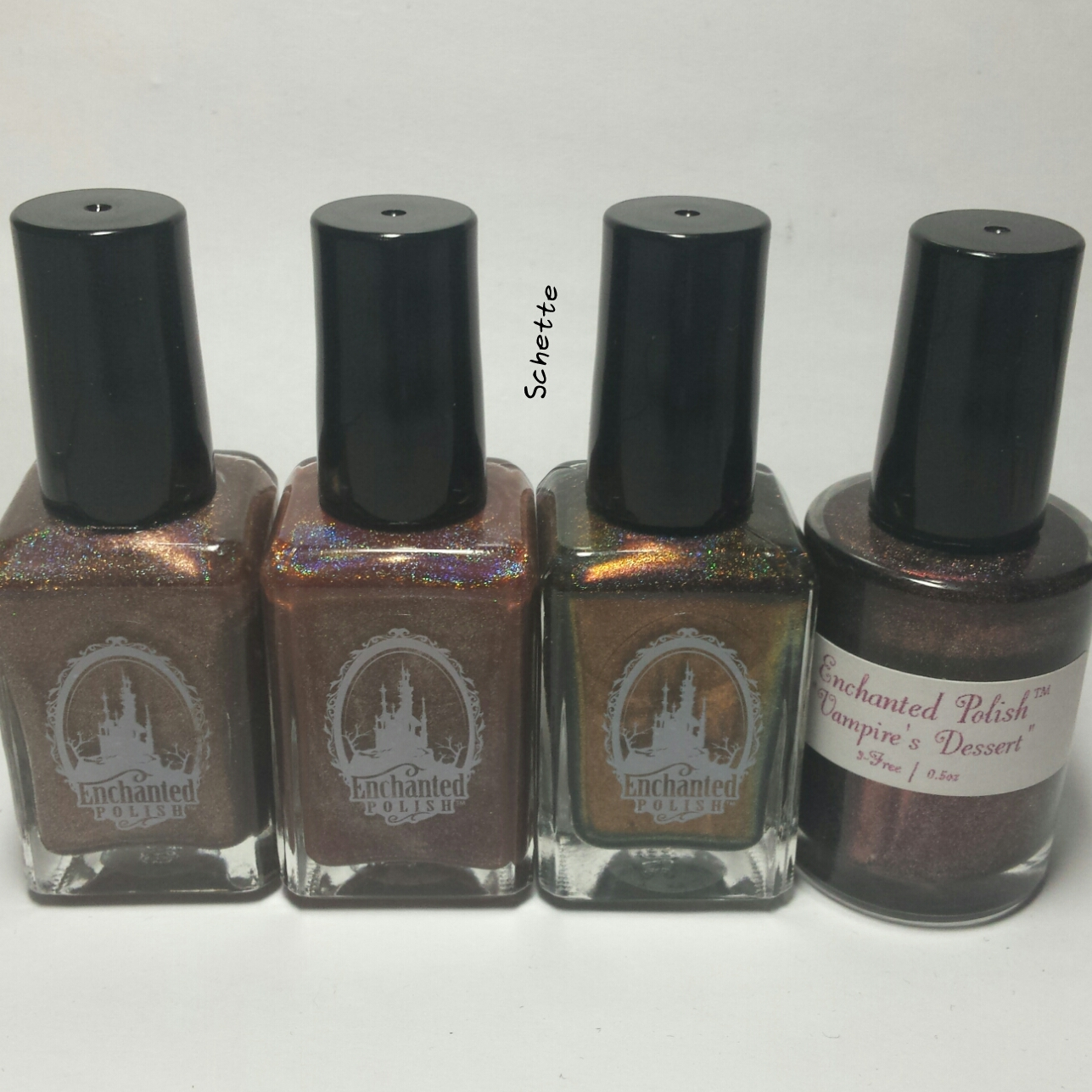 Les vernis Enchanted Polish Hot Chocolate, Hot Chocolate for Unicorn, Vampires suck and Vampire's dessert