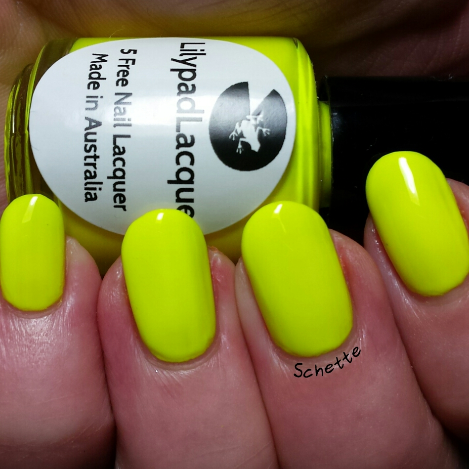 Les Vernis Lilypad Lacquer Lemon Sundae, Orange Sundae, Lime Sundae and Spearmint Sundae
