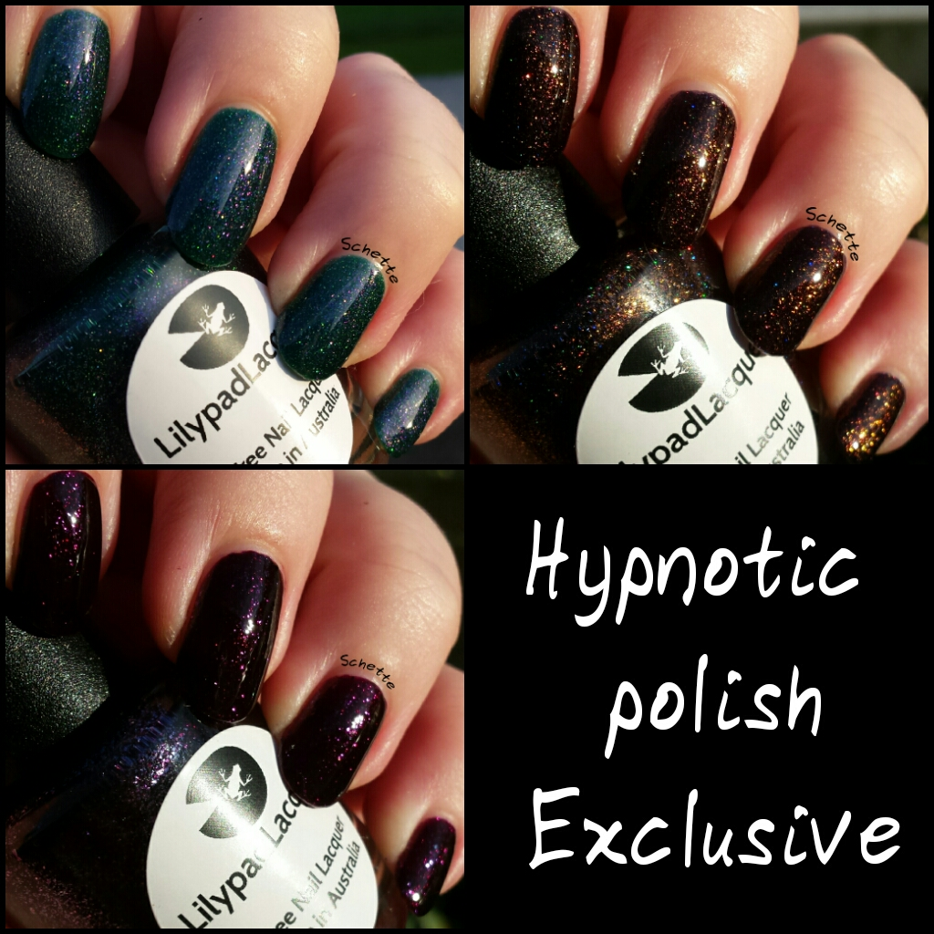 Lilypad Lacquer - Hypnotic Polish Exclusive : Purple Velvet, Bronze Goddess, Envy me