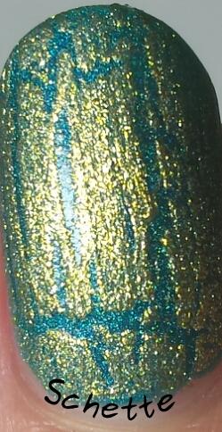 OPI Shatter Gold, Silver, Pink Black