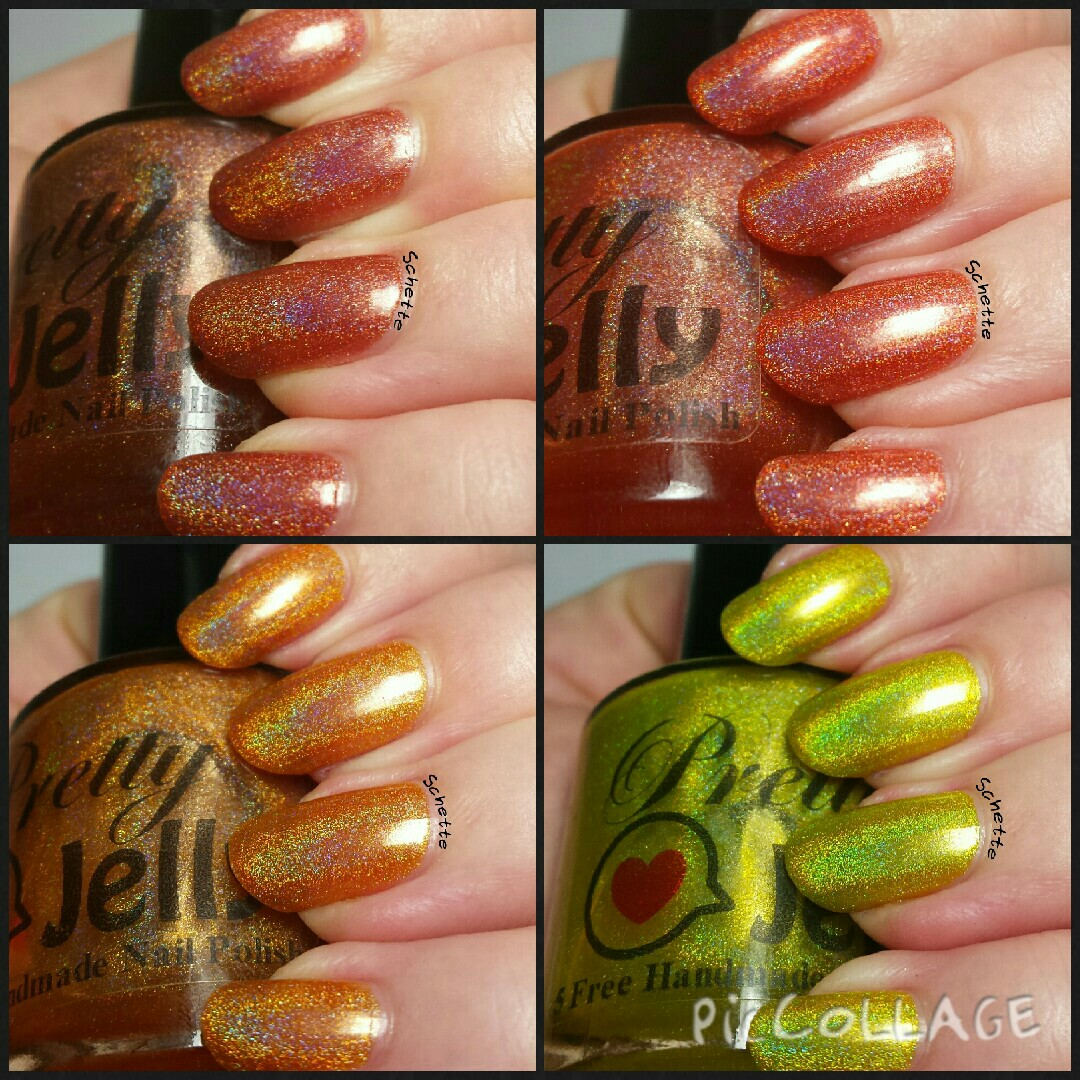 Les Vernis Pretty Jelly Ginkgo, Beech, Mapple et Dogwood