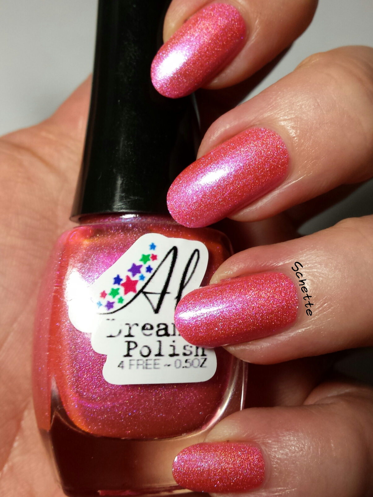 Le vernis Aly's Dream Pink Berry - Holo Grail Box Mars 2014