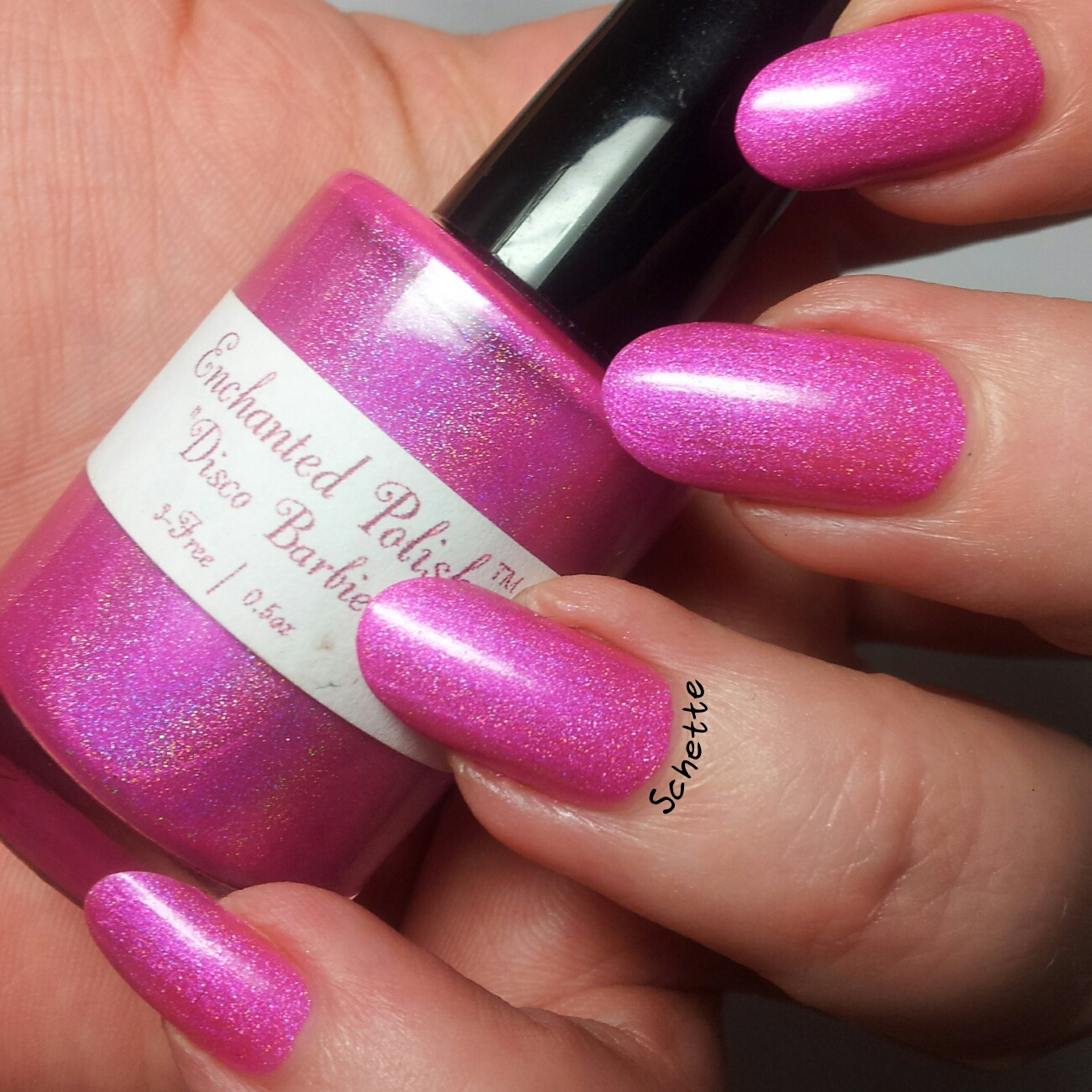 Le vernis Enchanted Polish - Disco Babie - Comparaison old / new