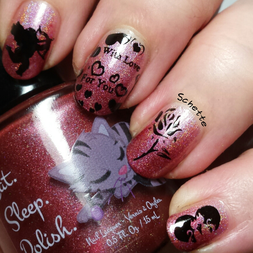 HPB Presents - Love mani with Nailways Plate Spring Time - Love is in the air