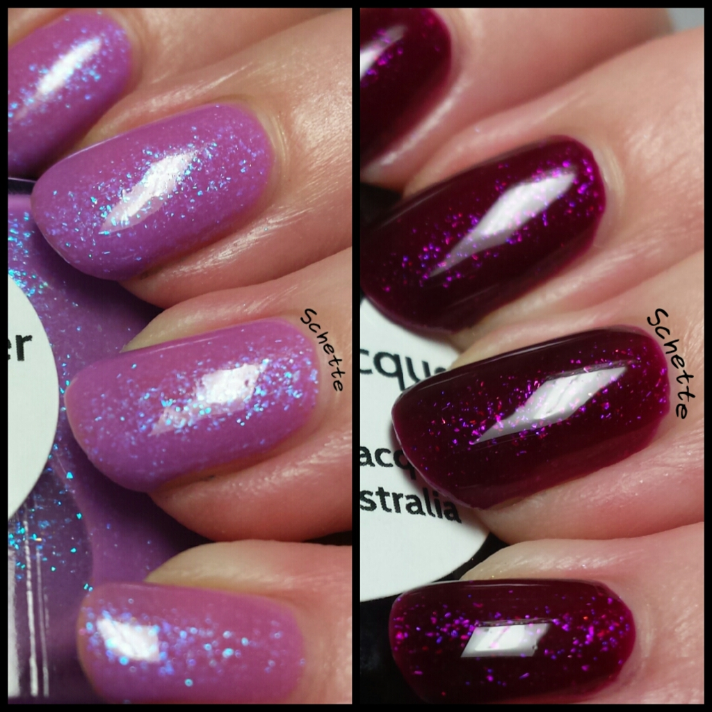 Lilypad Lacquer - Lilac Diamonds, Plum Diamonds