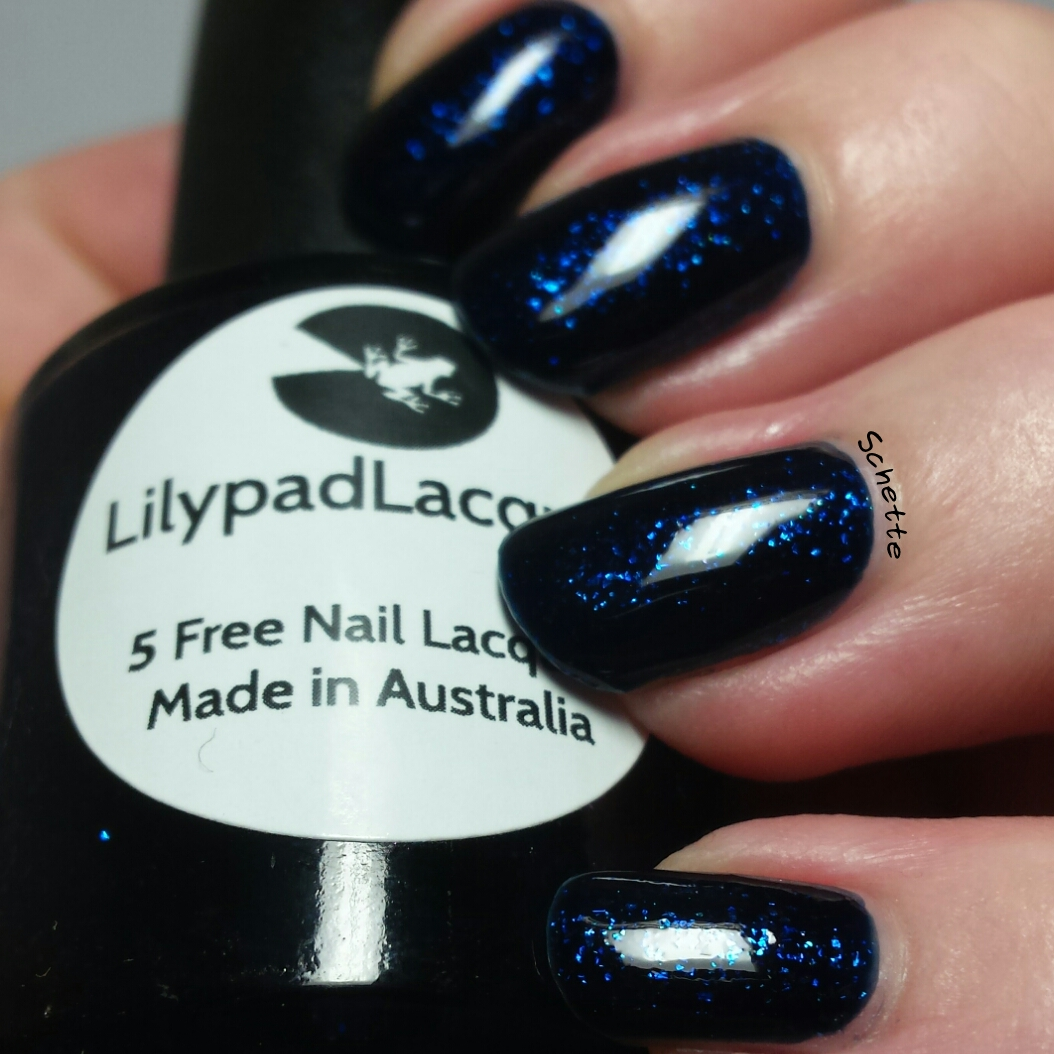 Lilypad Lacquer - Emerald Diamonds, Navy Diamonds