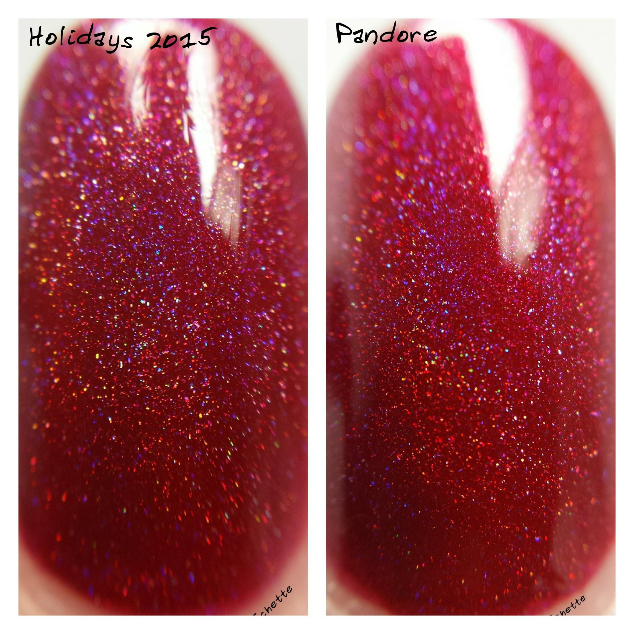 Enchanted Polish : Comparison Pandore Holidays 2015