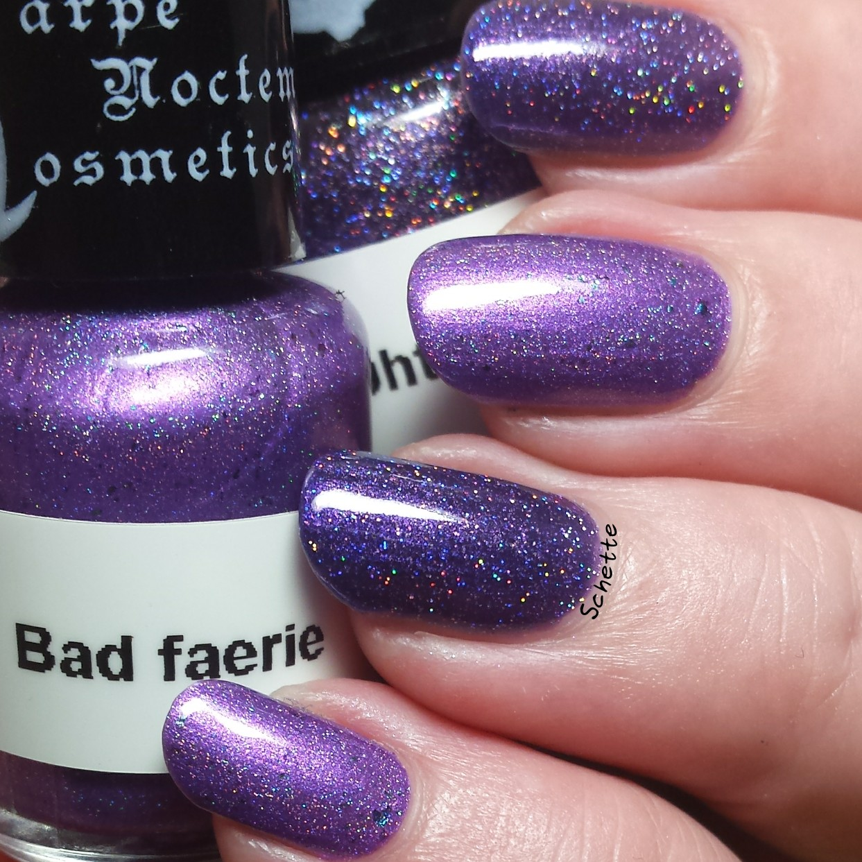 Carpe Noctem Cosmetics : Bad Faerie Midnight Mayhem Comparison