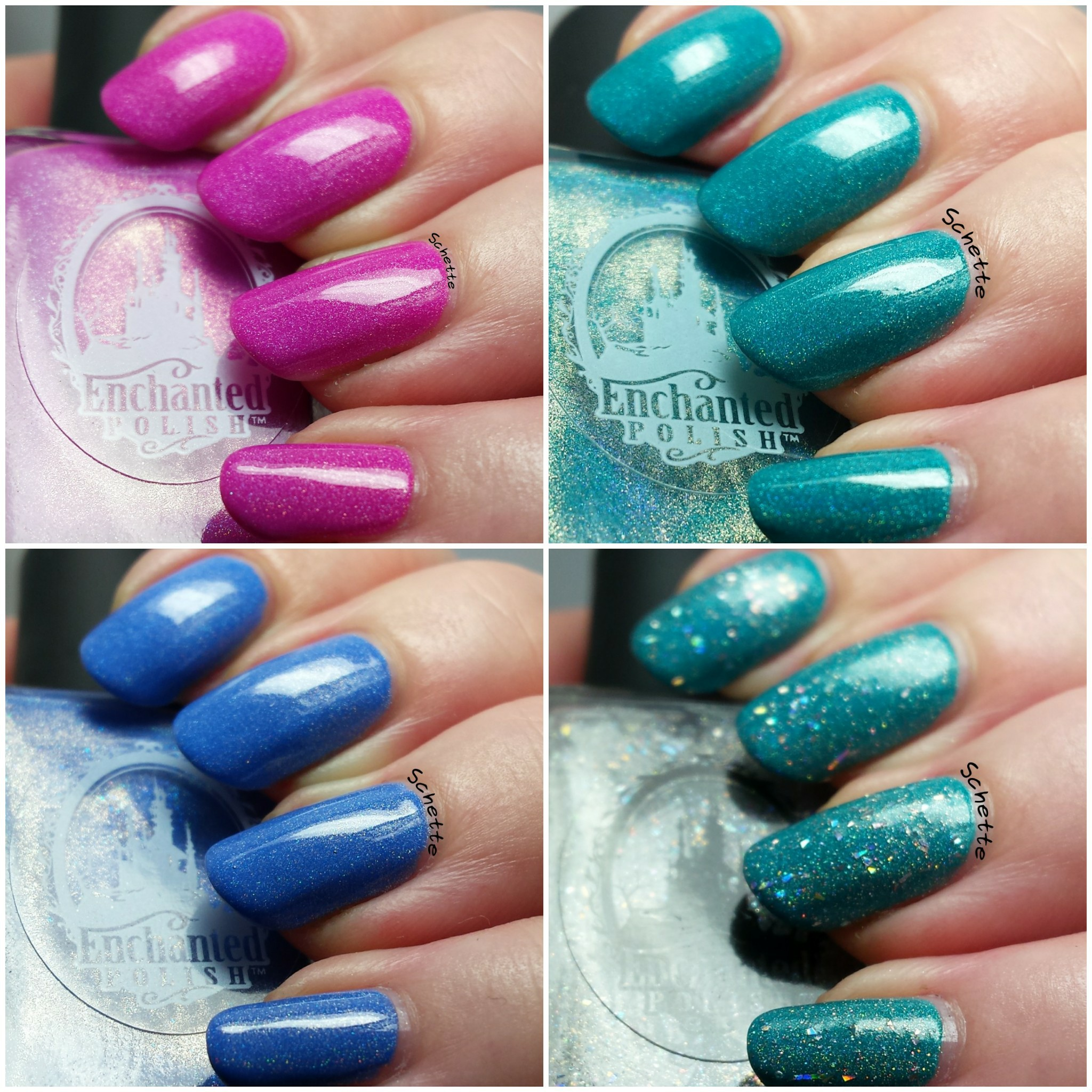 Enchanted Polish : Disco H20, Reign Beau, Dope Jam, Rainbow Juice (with pulp)