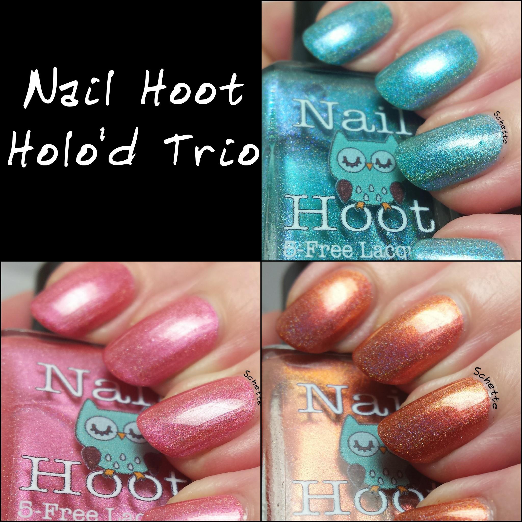 Nail Hoot : Holo'd Trio