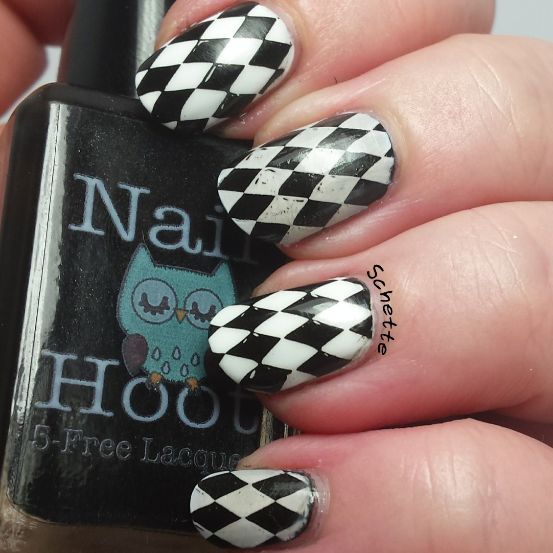 Nail Hoot : Pure Black Stamping, Pure White Stamping