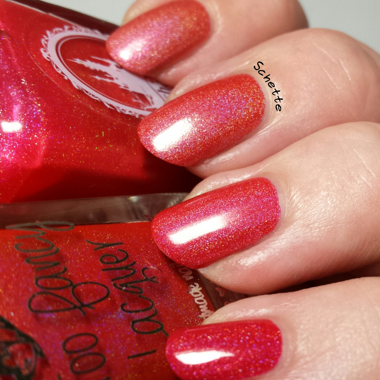 Too Fancy Lacquer : Red comparison with Enchanted Polish Stay Classy San Diego