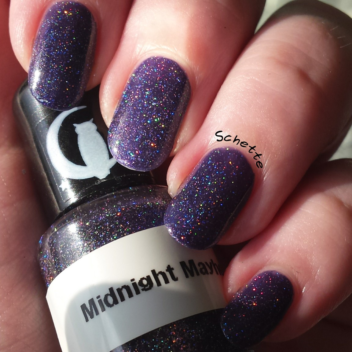 Carpe Noctem Cosmetics - Midnight Mayhem, Wine about it