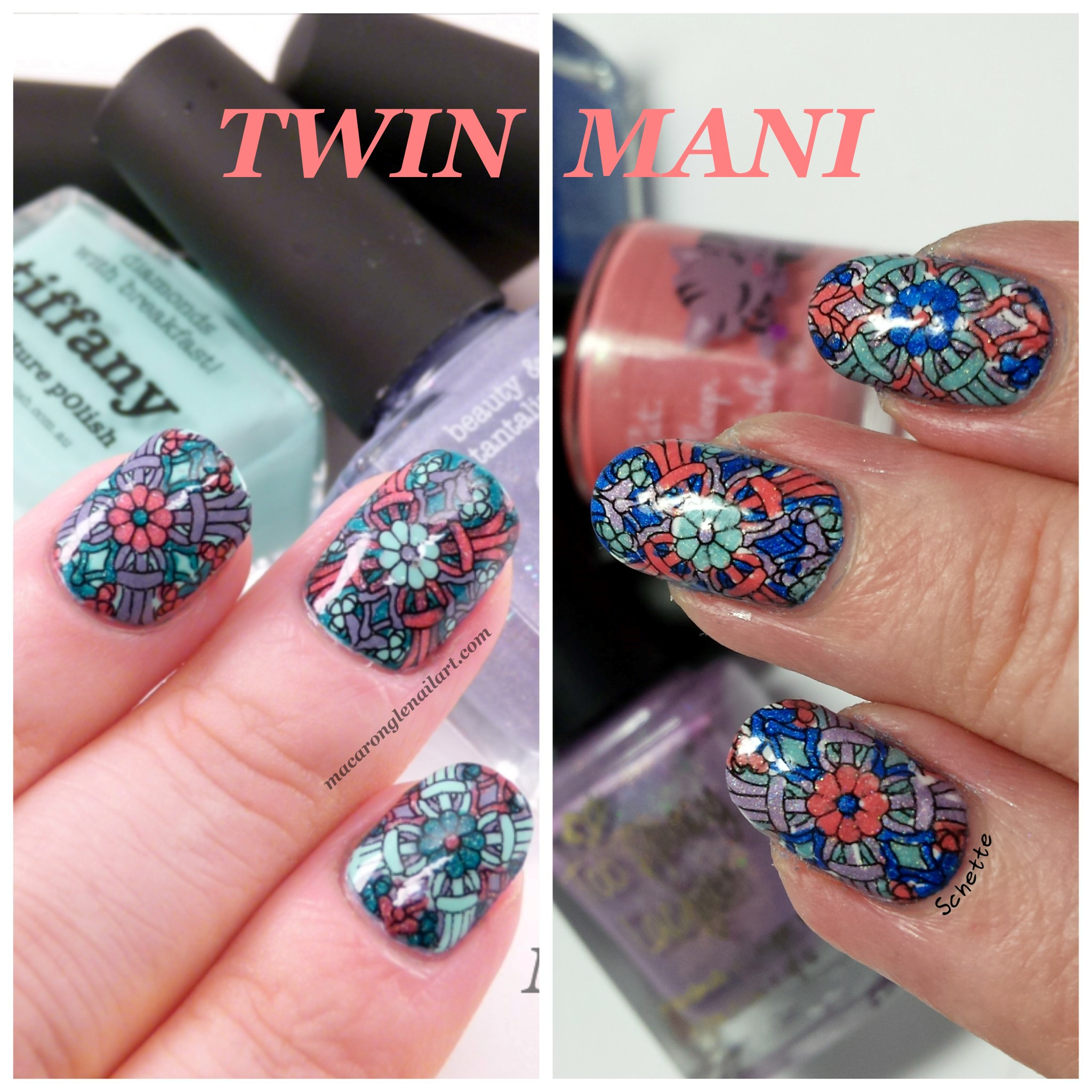 Twin Mani with Macar'Ongle