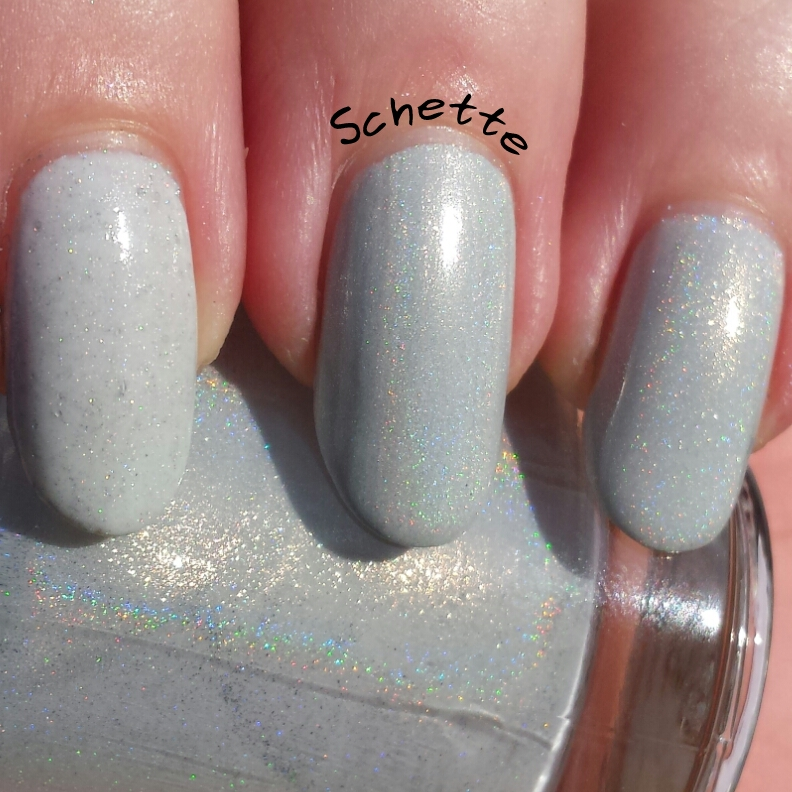 White holographic polish comparison