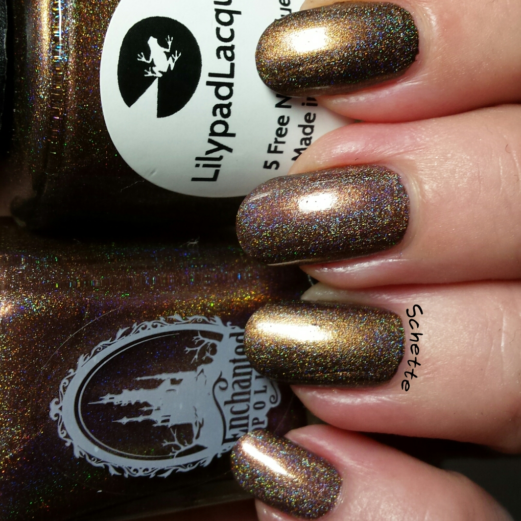 Comparison Enchanted Polish Hot Chocolate Vs Lilypad Lacquer Chocollo