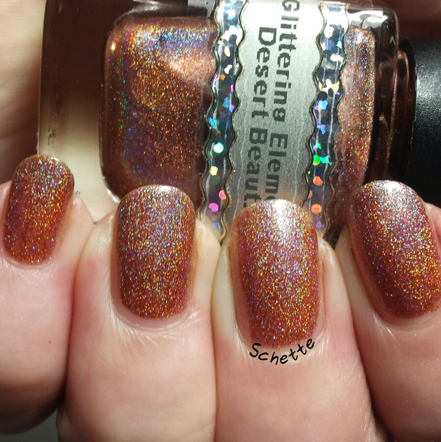 Glittering Elements : Vintage Rose, OJ Fizzle, King Triton, Desert Beauty