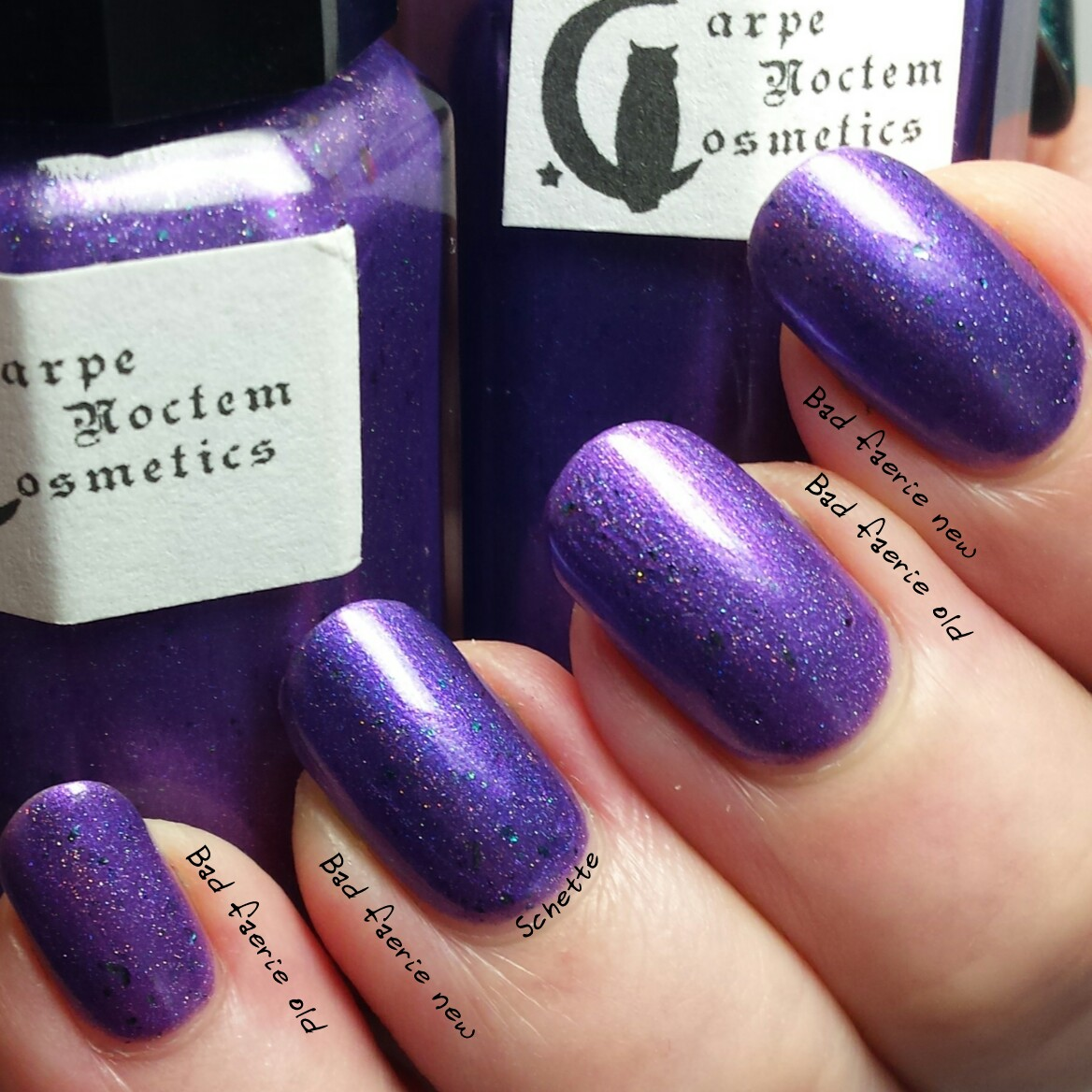 Carpe Noctem Cosmetics : Bad Faerie : Old and new version
