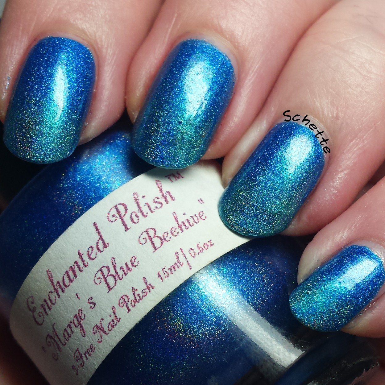 Enchanted Polish : Marge's Blue Behive (fatty)