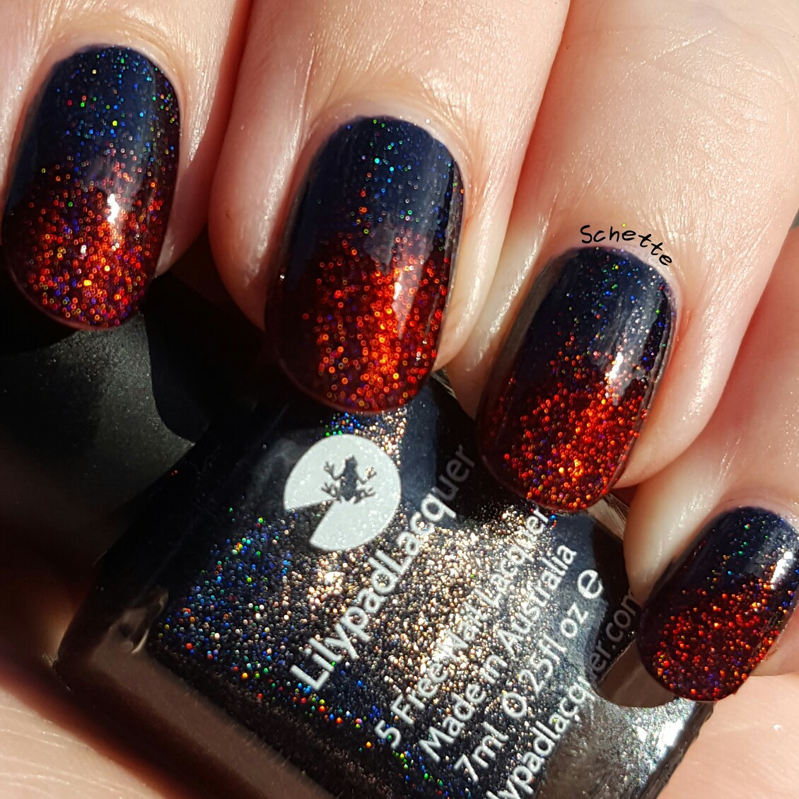 Lilypad Lacquer: Gradient Nero with When Love comes to town