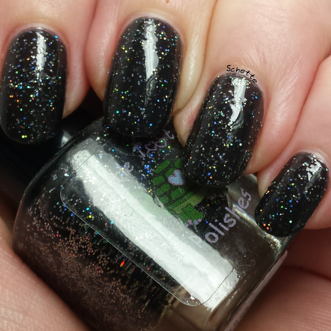 Turtle Tootsie Polish : Glittery Brew, 9 mm